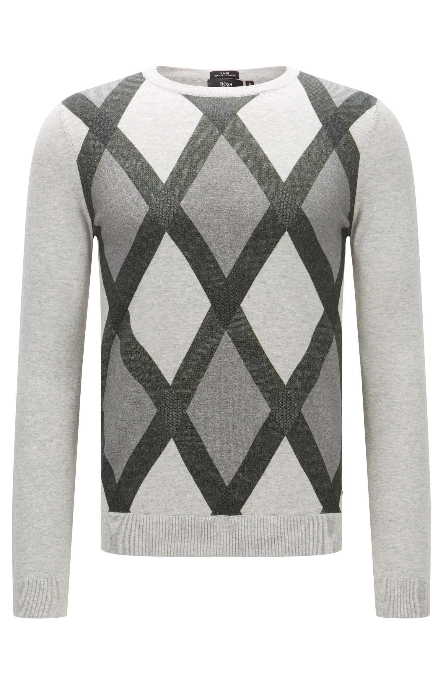 'Niras' | Argyle Cotton Cashmere Sweater