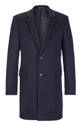 Cashmere Topcoat, Extra Slim Fit | Arto, Dark Blue