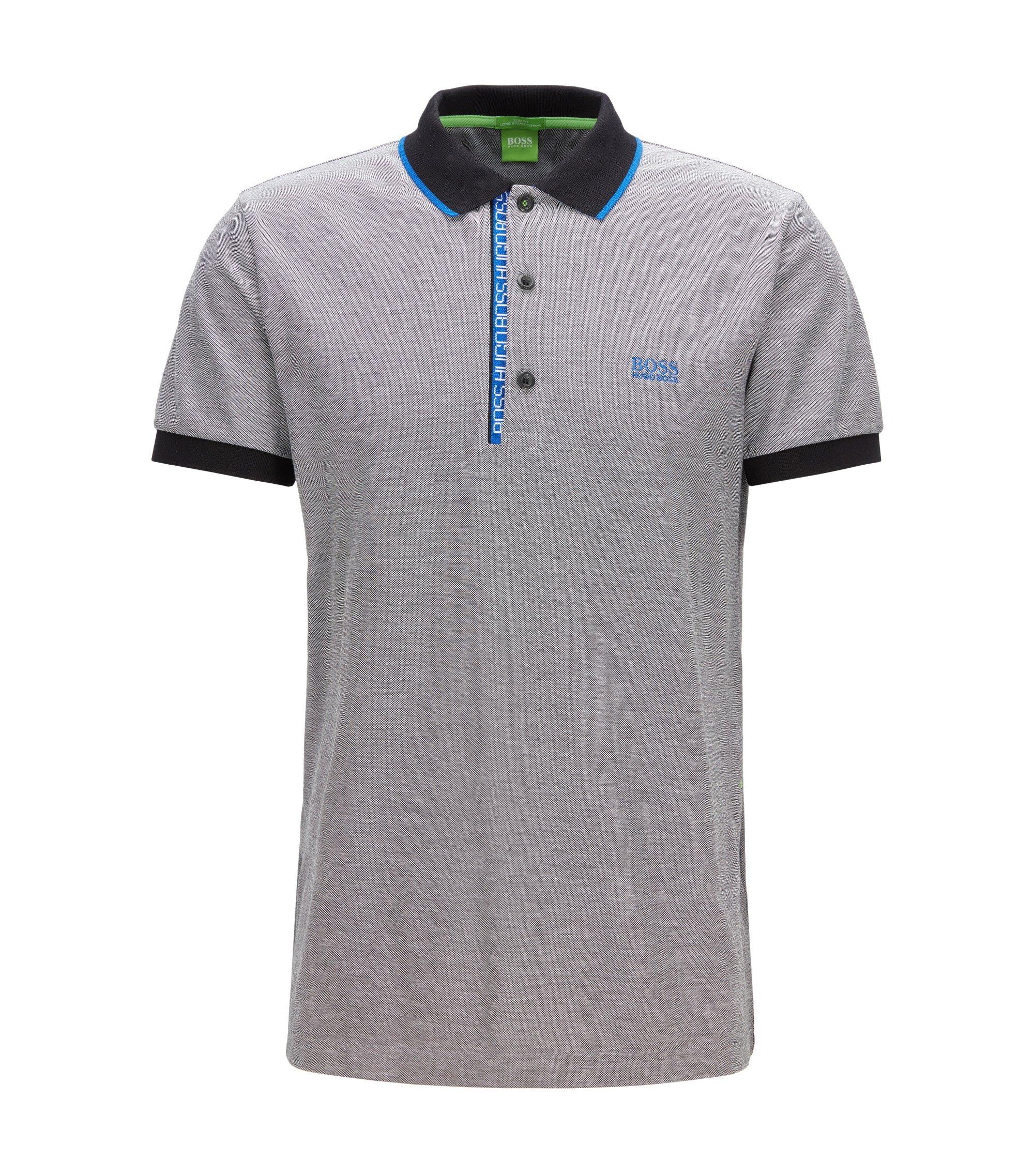 Oxfotd Cotton Polo Shirt, Slim Fit | Paule, Black