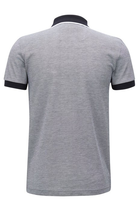 Lot of 2 Men/'s Hugo Boss Paule 4 S//S Cotton Polo Shirt Slim Fit Black Gray