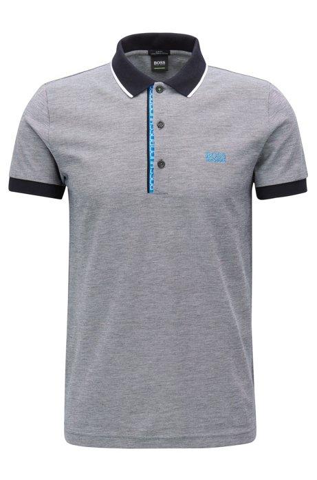 054d8c35 BOSS - Slim-fit logo polo shirt in cotton piqué