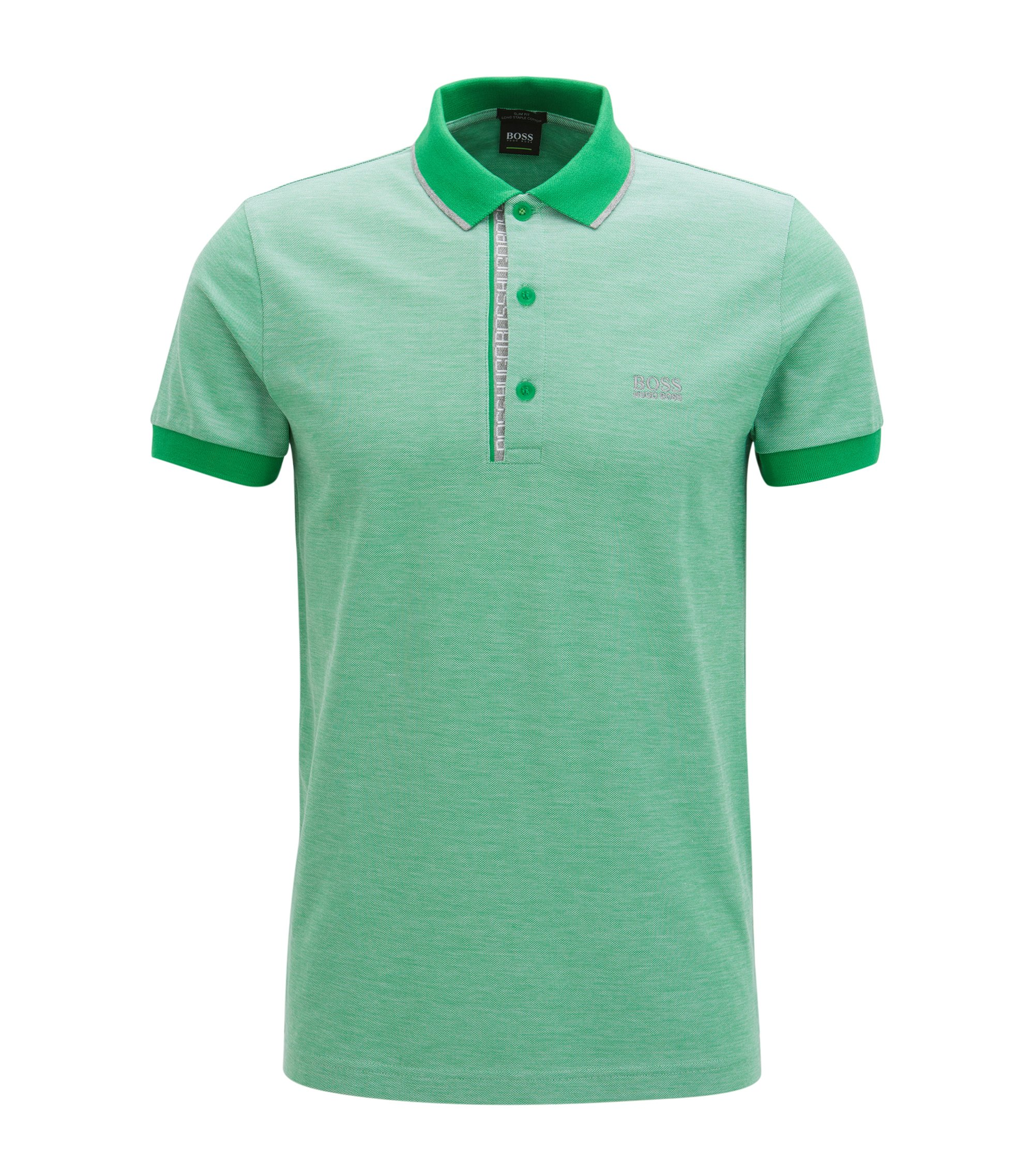 Oxfotd Cotton Polo Shirt, Slim Fit | Paule, Green