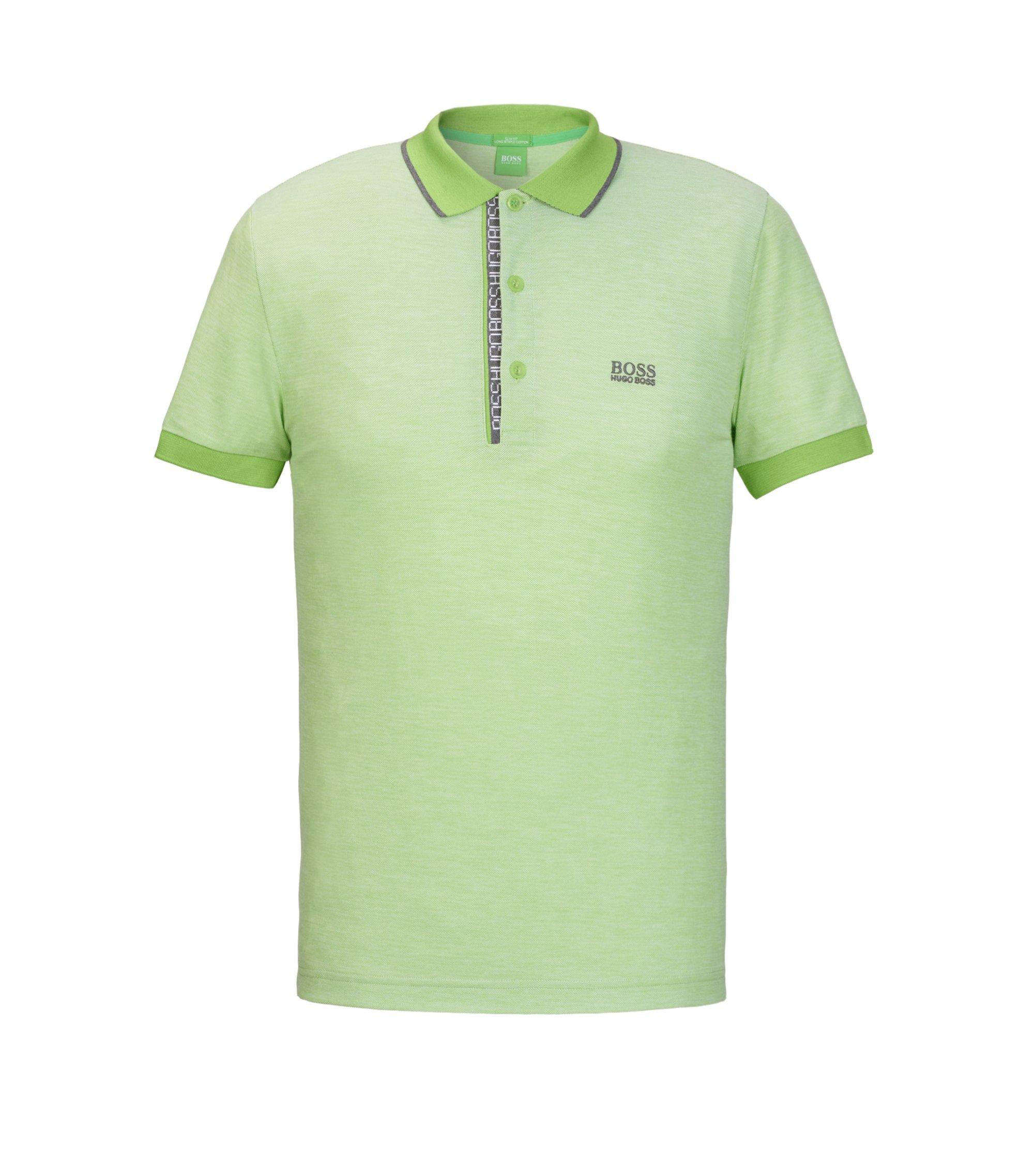 Oxfotd Cotton Polo Shirt, Slim Fit | Paule, Light Green