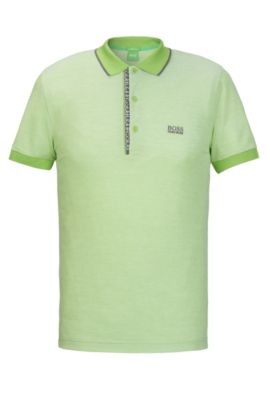 Oxfotd Cotton Polo Shirt, Slim Fit | Paule, Light Green