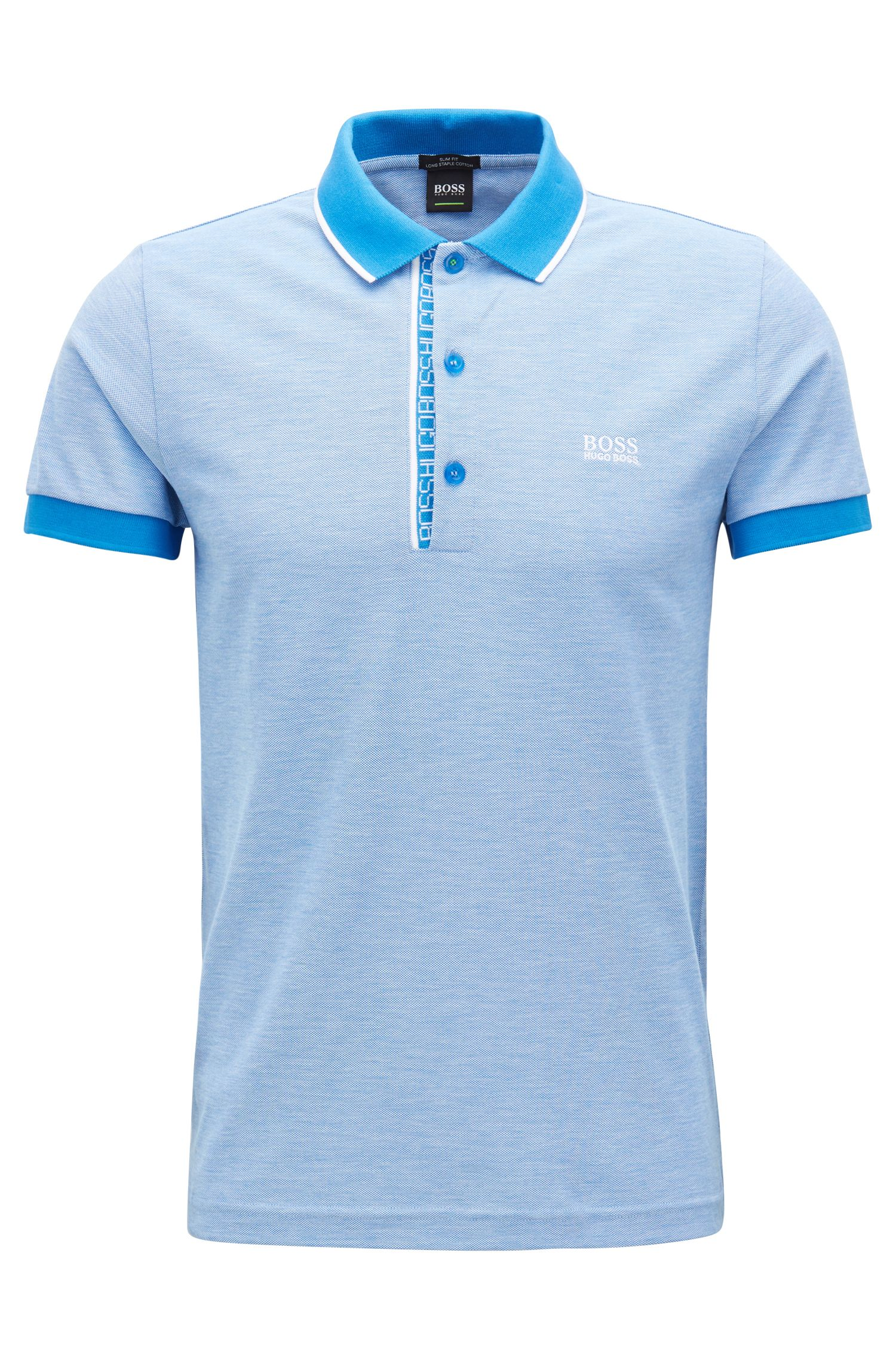 Slim-fit logo polo shirt in cotton piqué