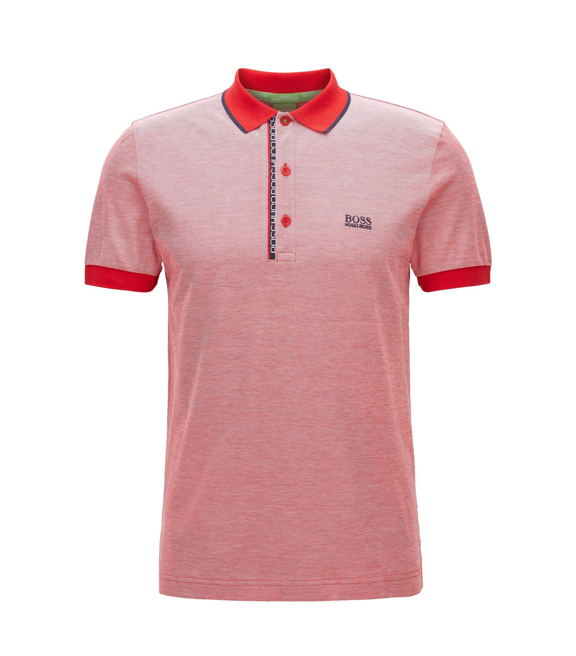 Oxfotd Cotton Polo Shirt, Slim Fit | Paule, Red