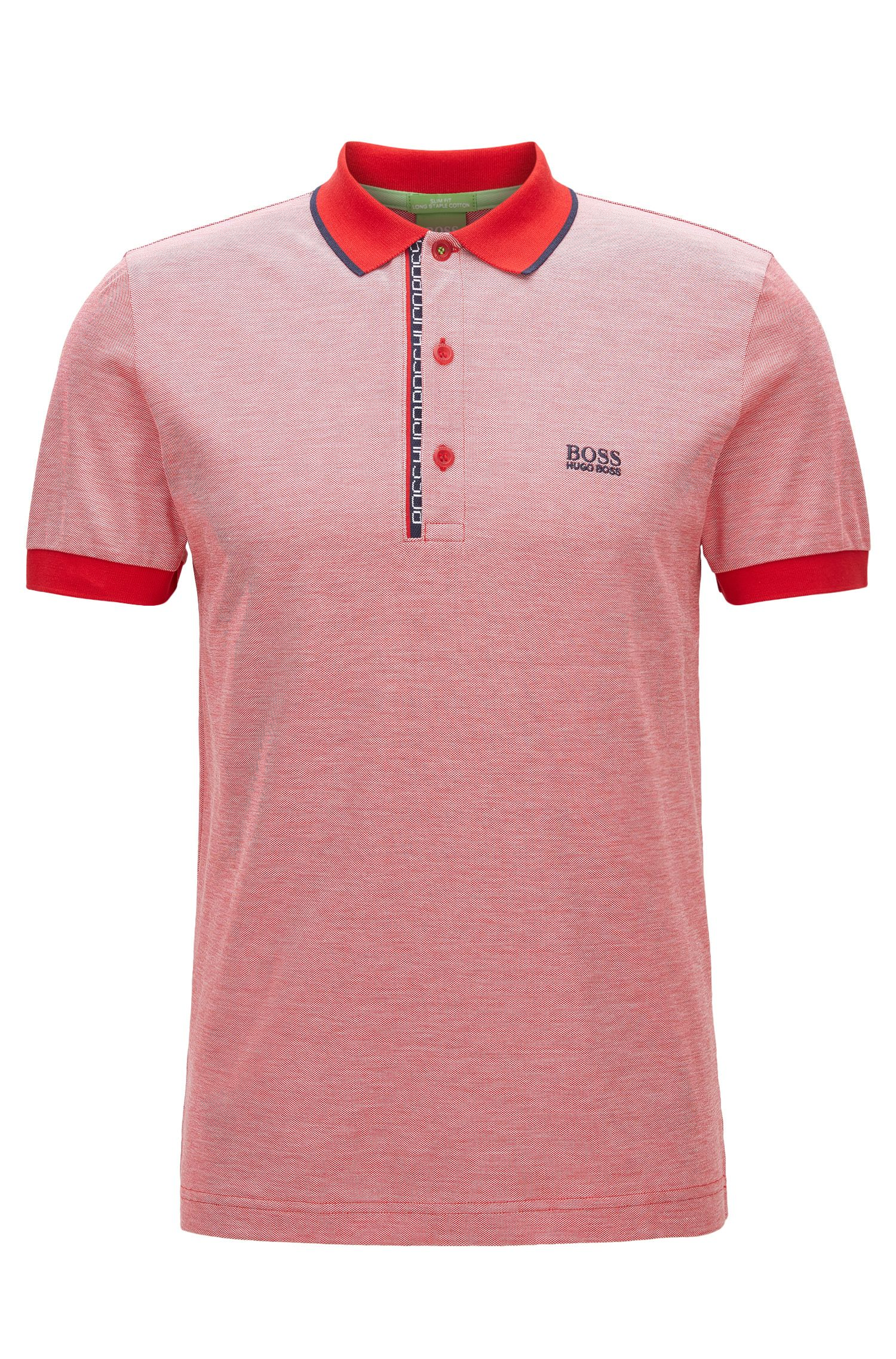 'Paule' | Slim Fit, Oxfotd Cotton Polo Shirt