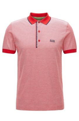 Oxfotd Cotton Polo Shirt, Slim Fit | Paule, Red