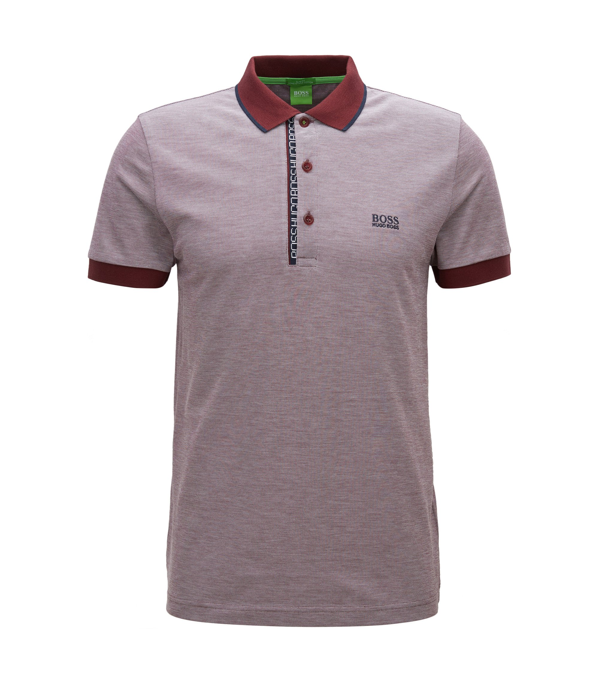 Oxfotd Cotton Polo Shirt, Slim Fit   Paule, Red