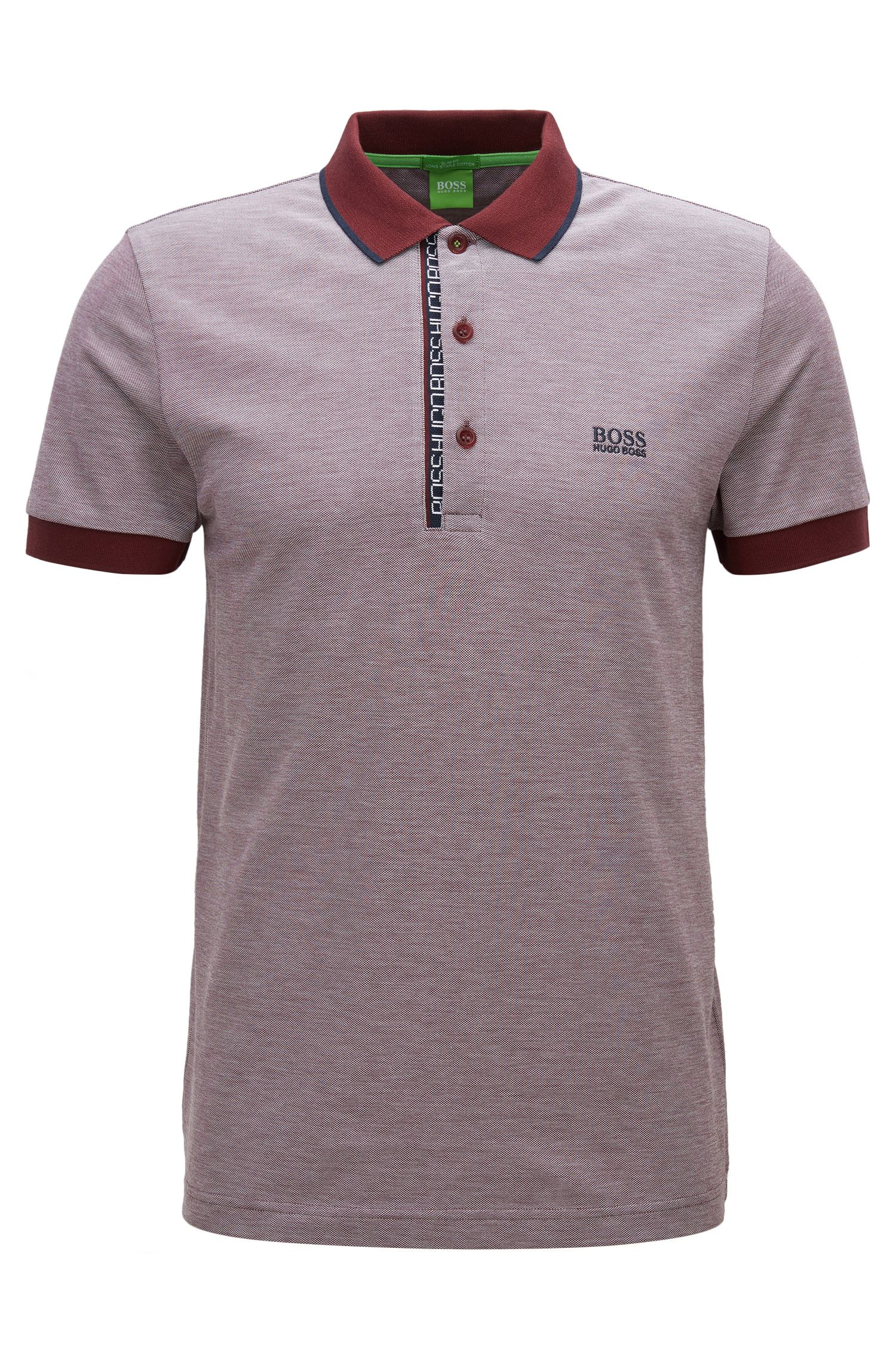 Oxfotd Cotton Polo Shirt, Slim Fit   Paule