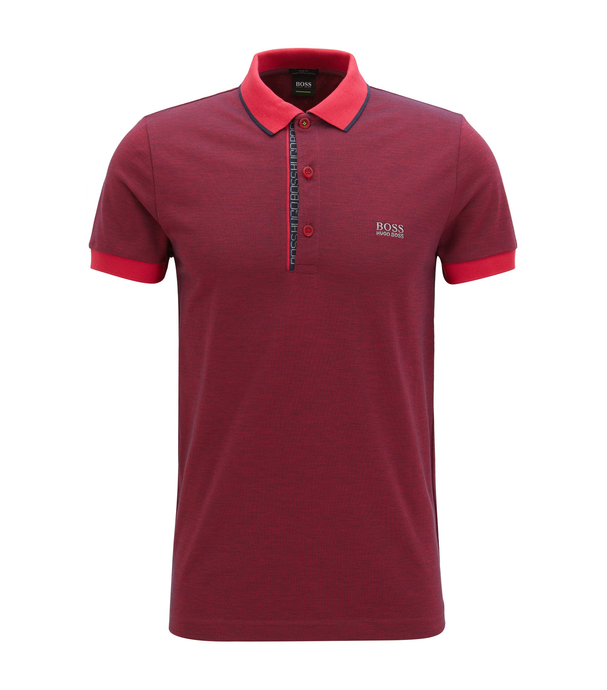 Oxfotd Cotton Polo Shirt, Slim Fit | Paule, Pink