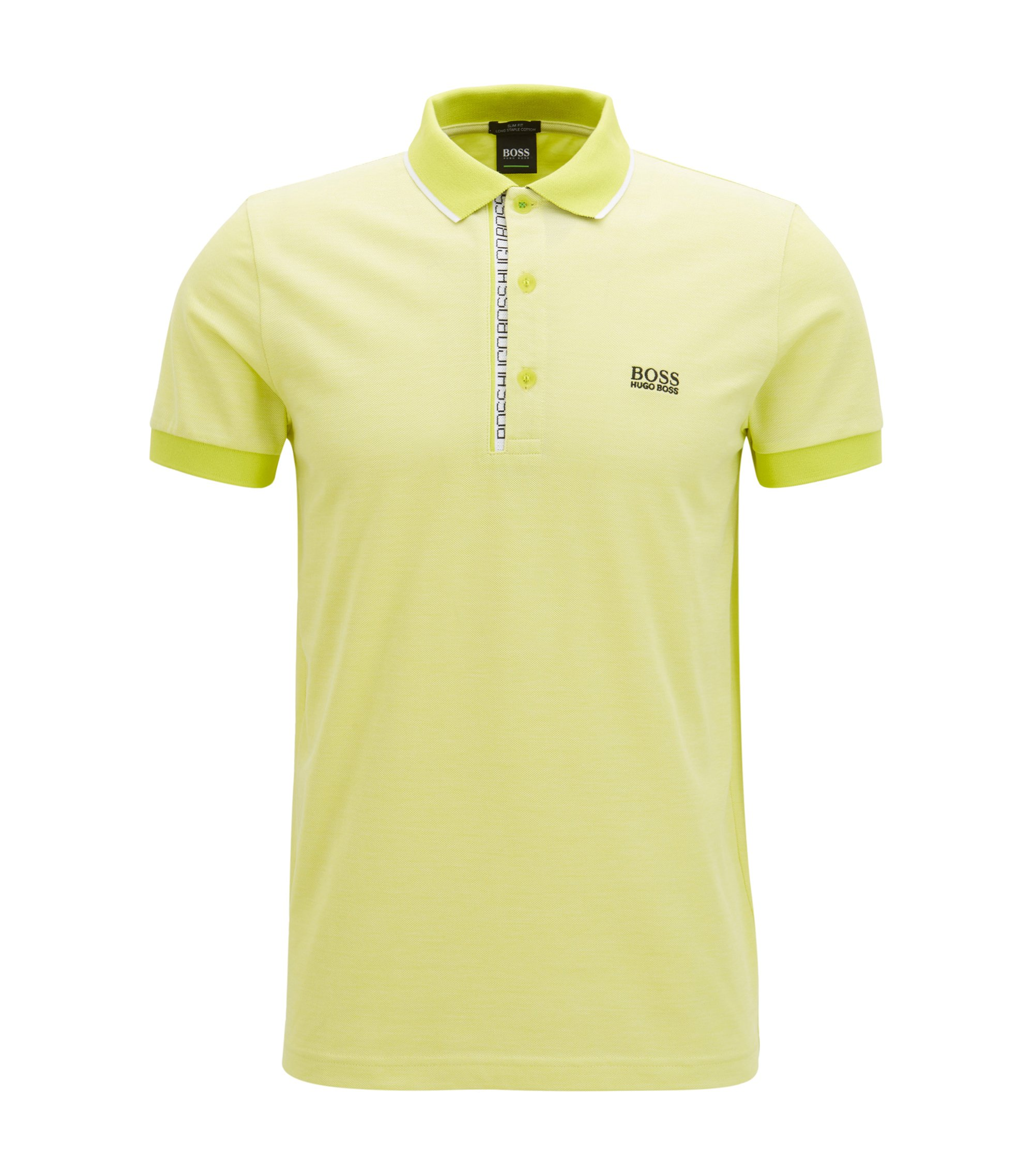Oxfotd Cotton Polo Shirt, Slim Fit | Paule, Yellow