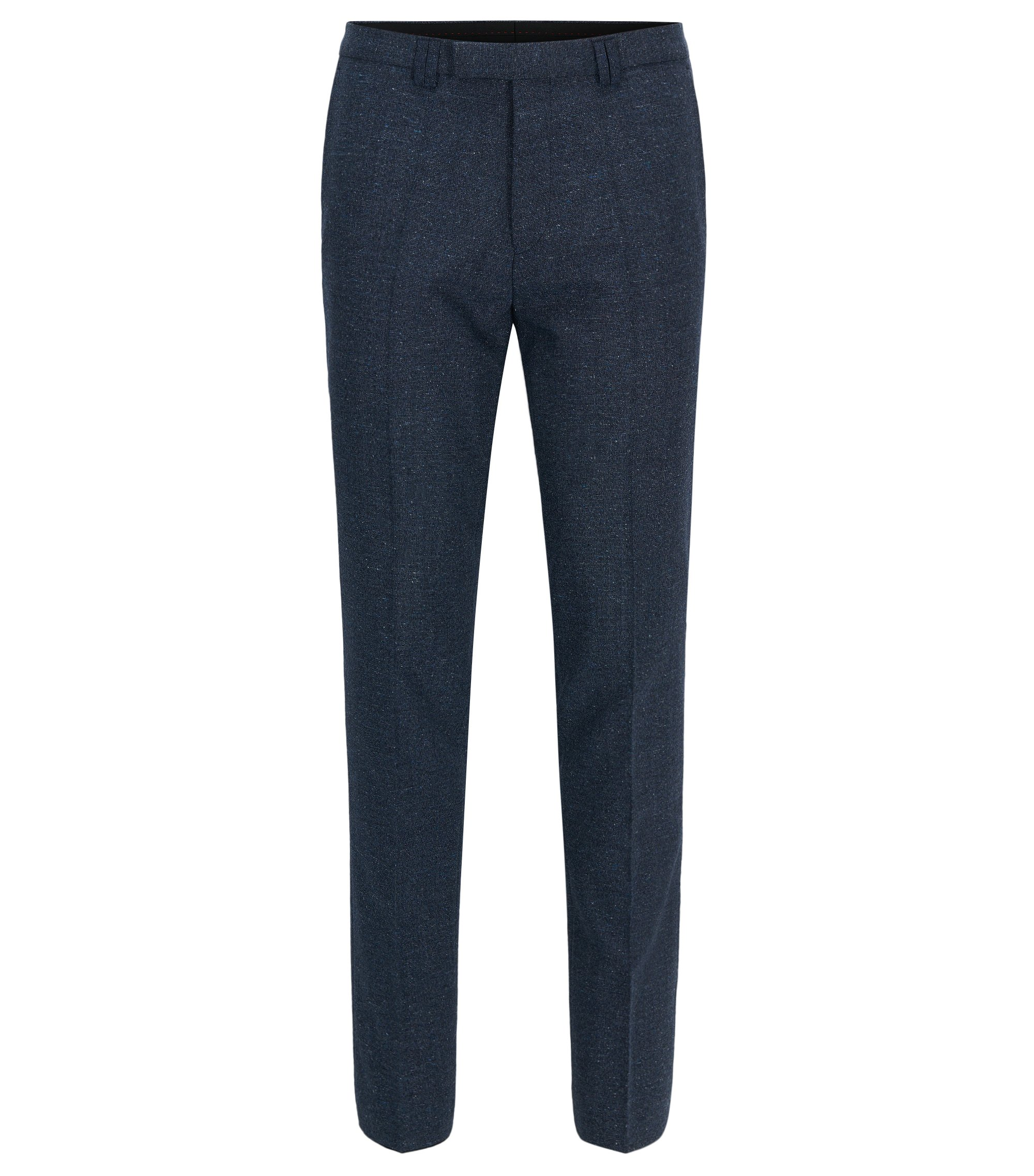 Wool Blend Pants, Extra Slim Fit | Hesten, Dark Blue