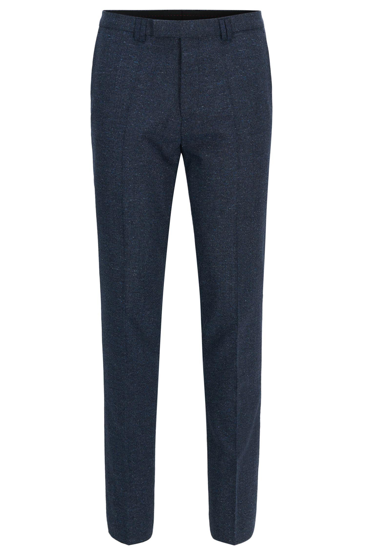 Wool Blend Pants, Extra Slim Fit | Hesten, Dark Blue