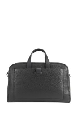 'Varenne Holdall' | Top-Grain Leather Bag, Black