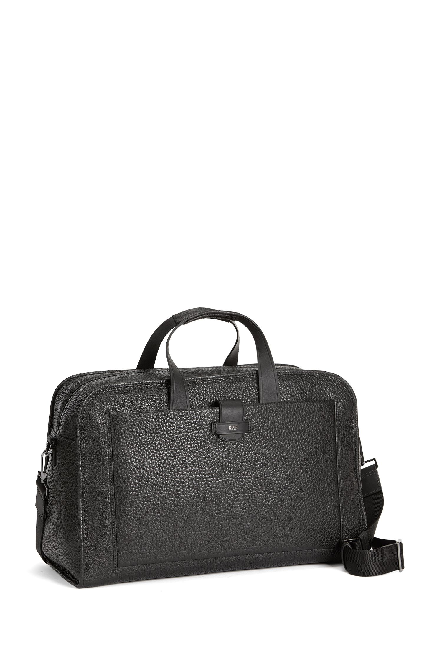 Top-Grain Leather Bag | Varenne Holdall, Black