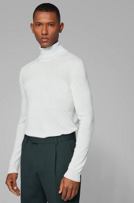 Turtleneck sweater in lightweight Italian cashmere, Light Green