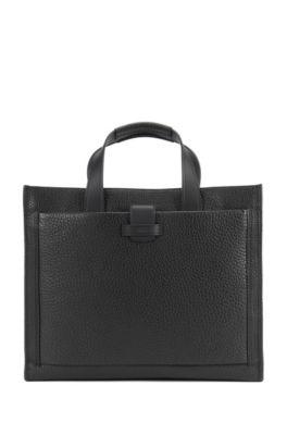 Top-Grain Leather Tote | Varenne Tote, Black