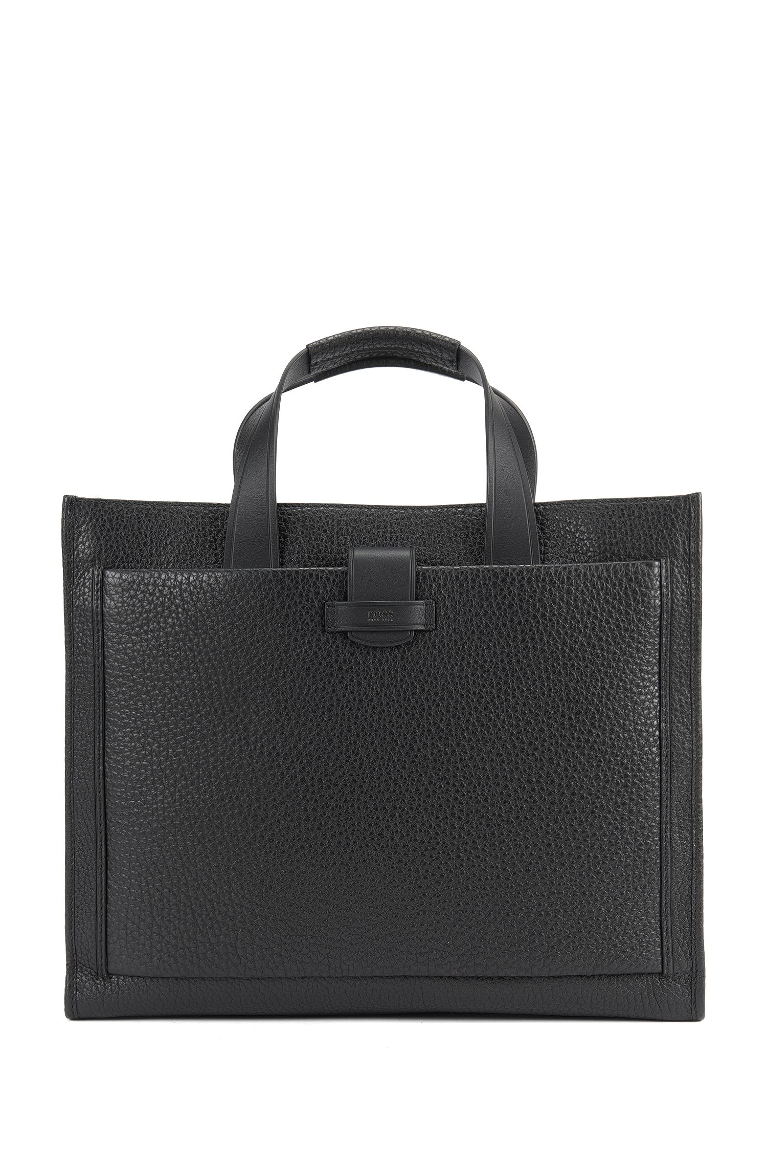 Top-Grain Leather Tote | Varenne Tote, Black