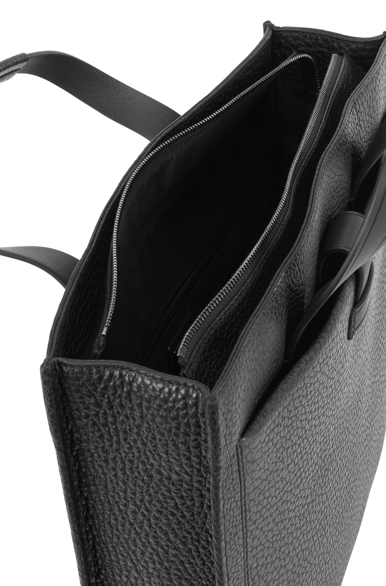 Top-Grain Leather Tote   Varenne Tote, Black