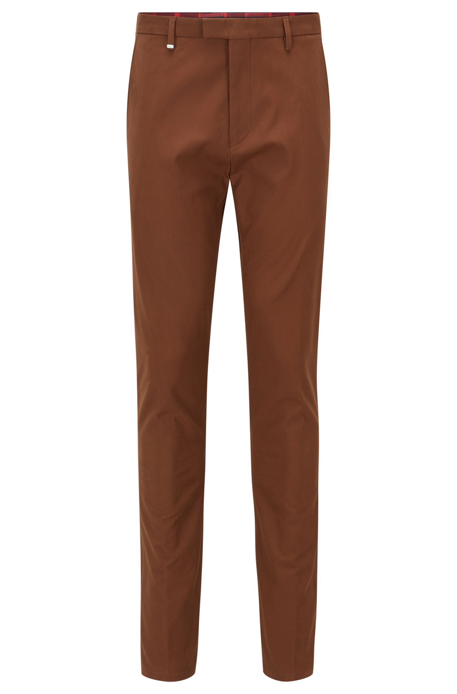 Stretch Wool Blend Pants, Tapered Fit | Helgo