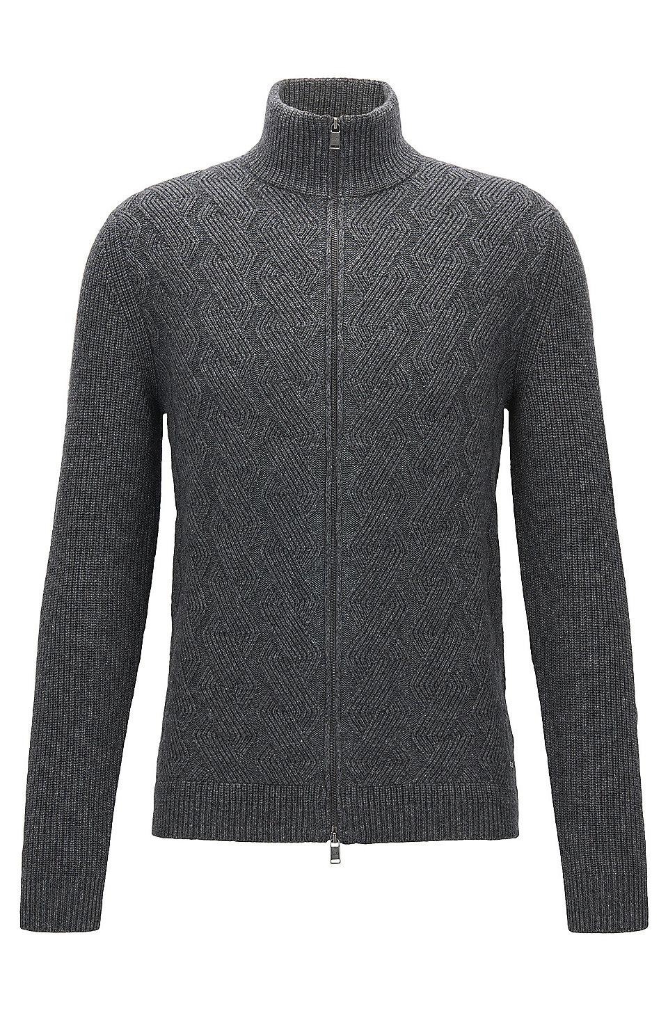 Virgin Wool Luxury Blend Full-Zip Cardigan | Naik