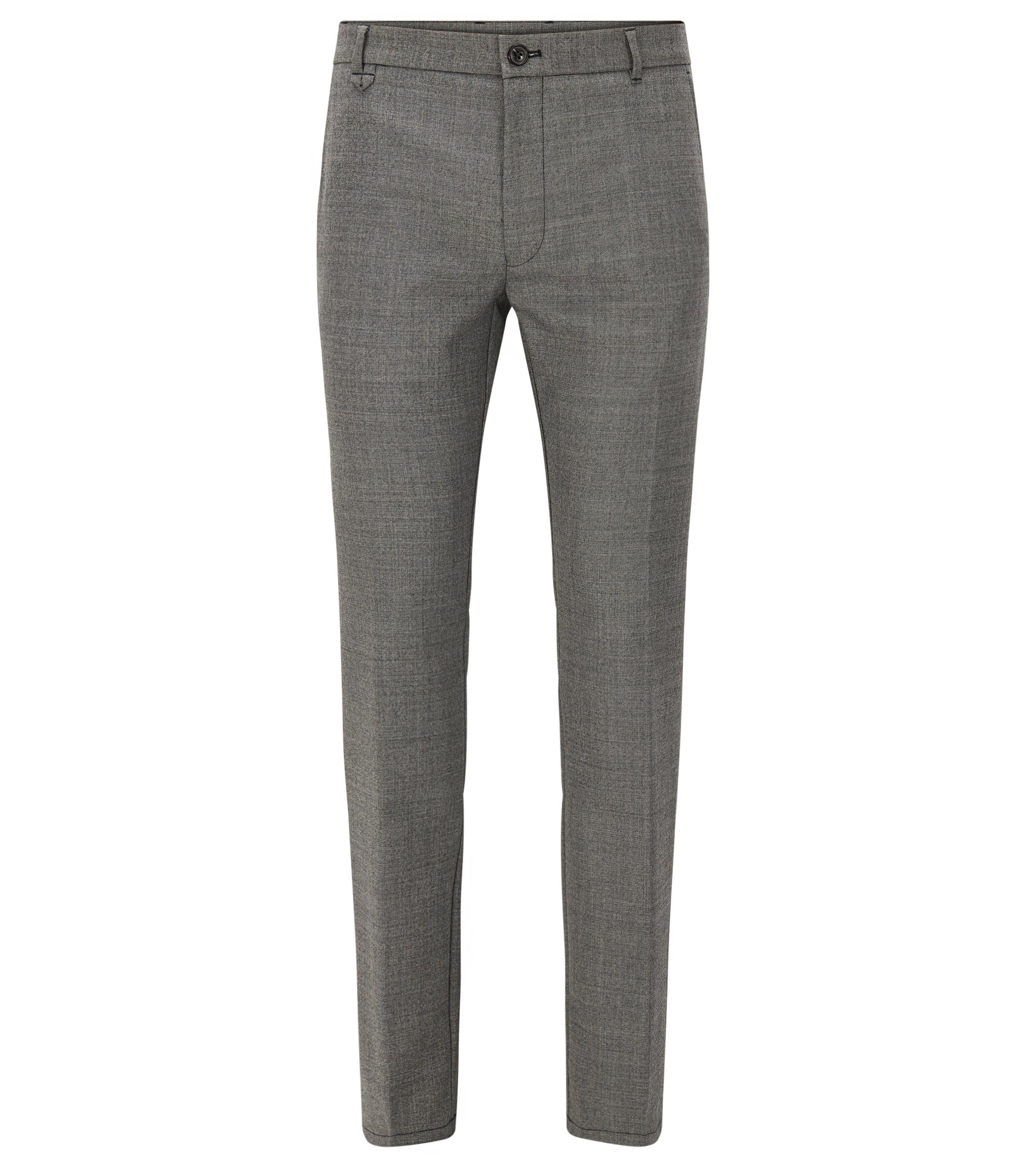 Stretch Virgin Wool Pants, Extra Slim Fit | Heldor, Grey