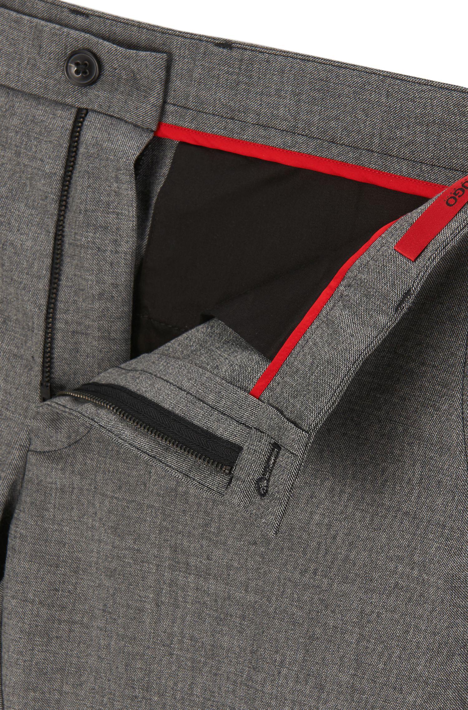 Stretch Virgin Wool Pants, Extra Slim Fit | Heldor, Grey