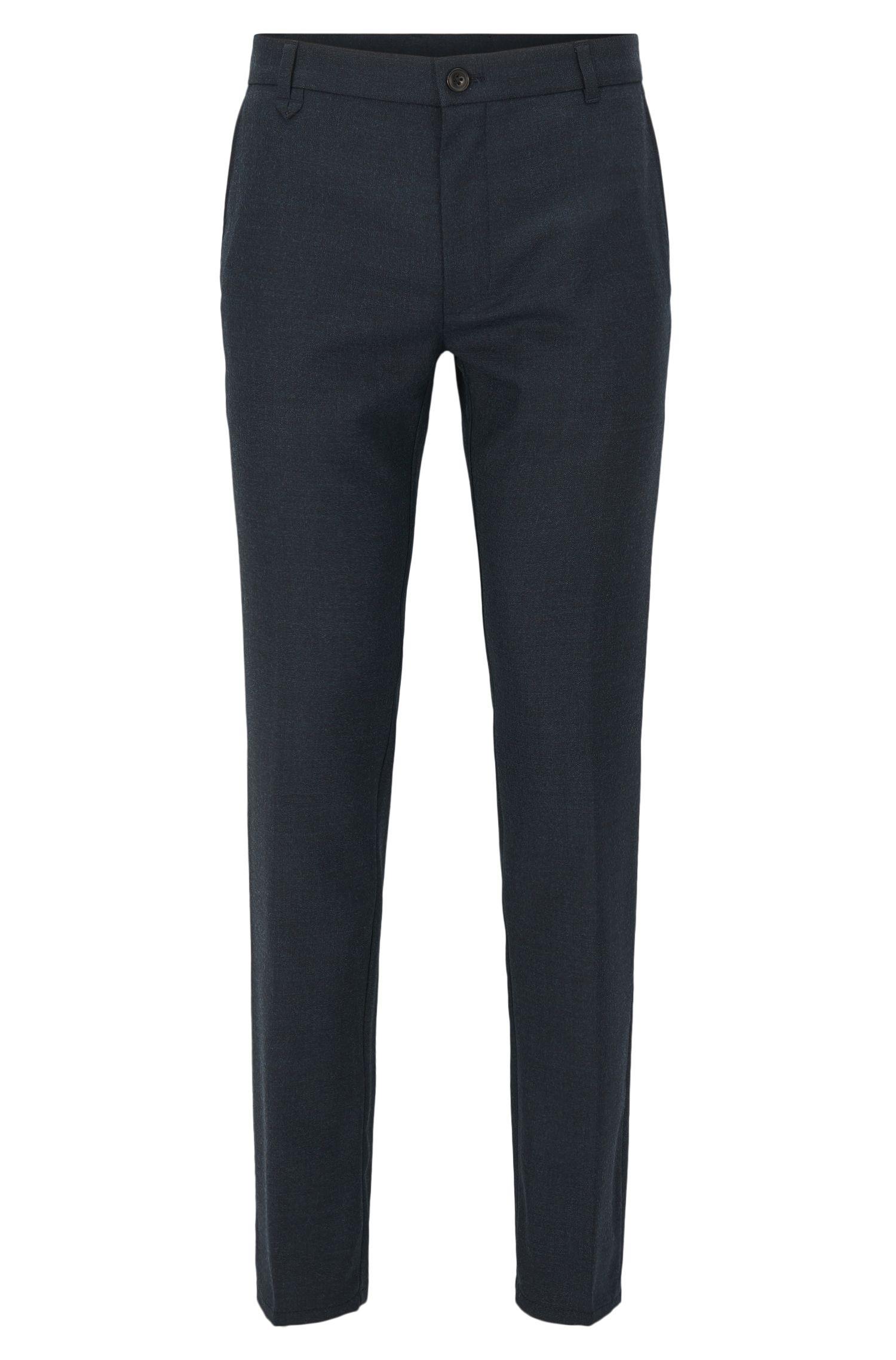 Stretch Virgin Wool Pants, Extra Slim Fit   Heldor