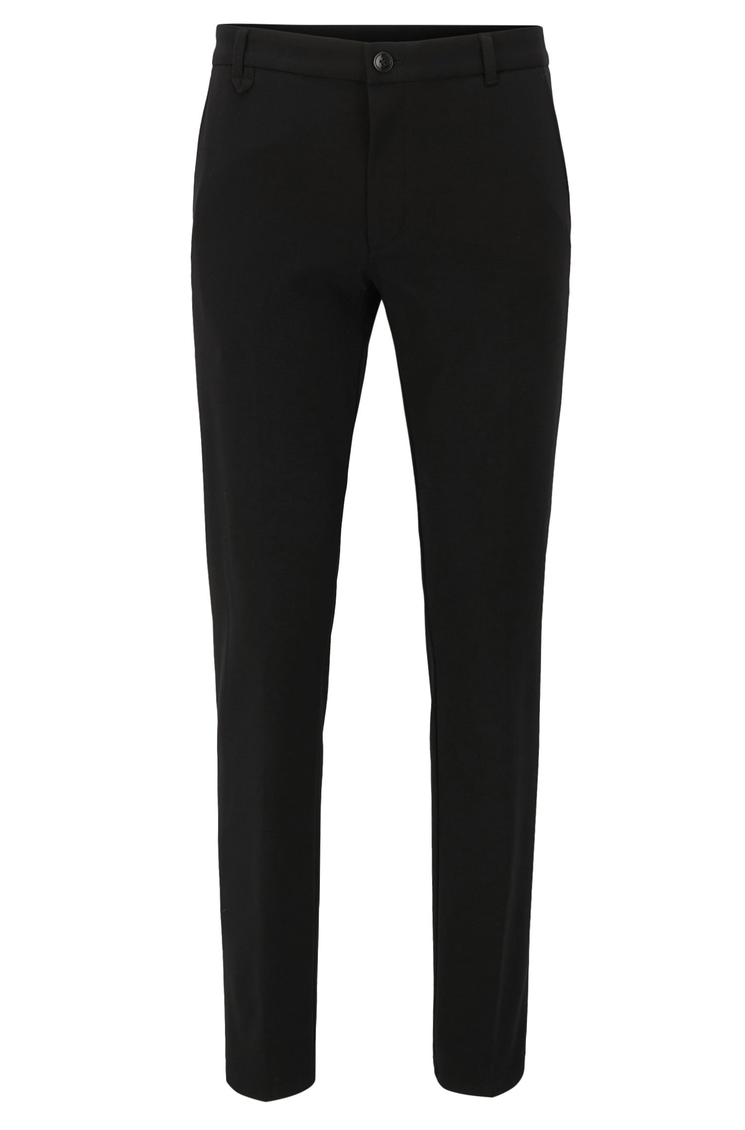 Stretch Viscose Pants, Extra Slim Fit | Heldor, Black