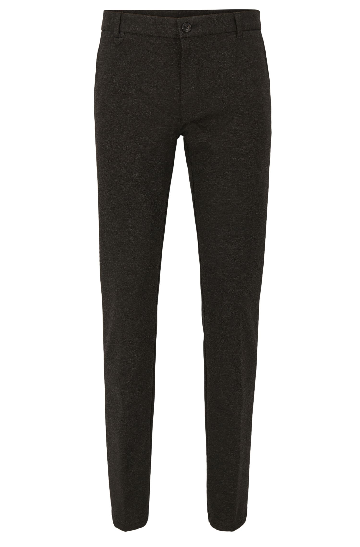 Stretch Viscose Pants, Extra Slim Fit | Heldor, Charcoal