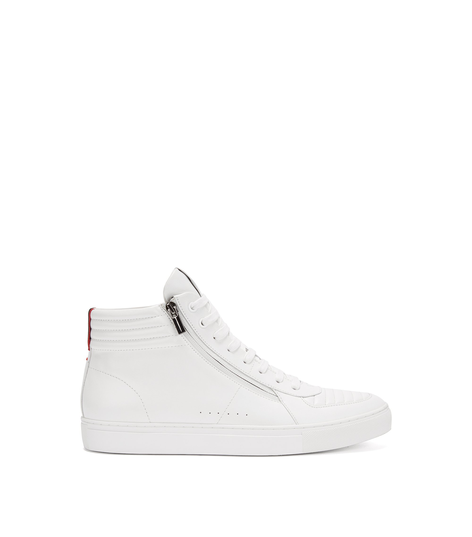 Leather High-Top Sneaker | Futurism Hito Itmtzp, White