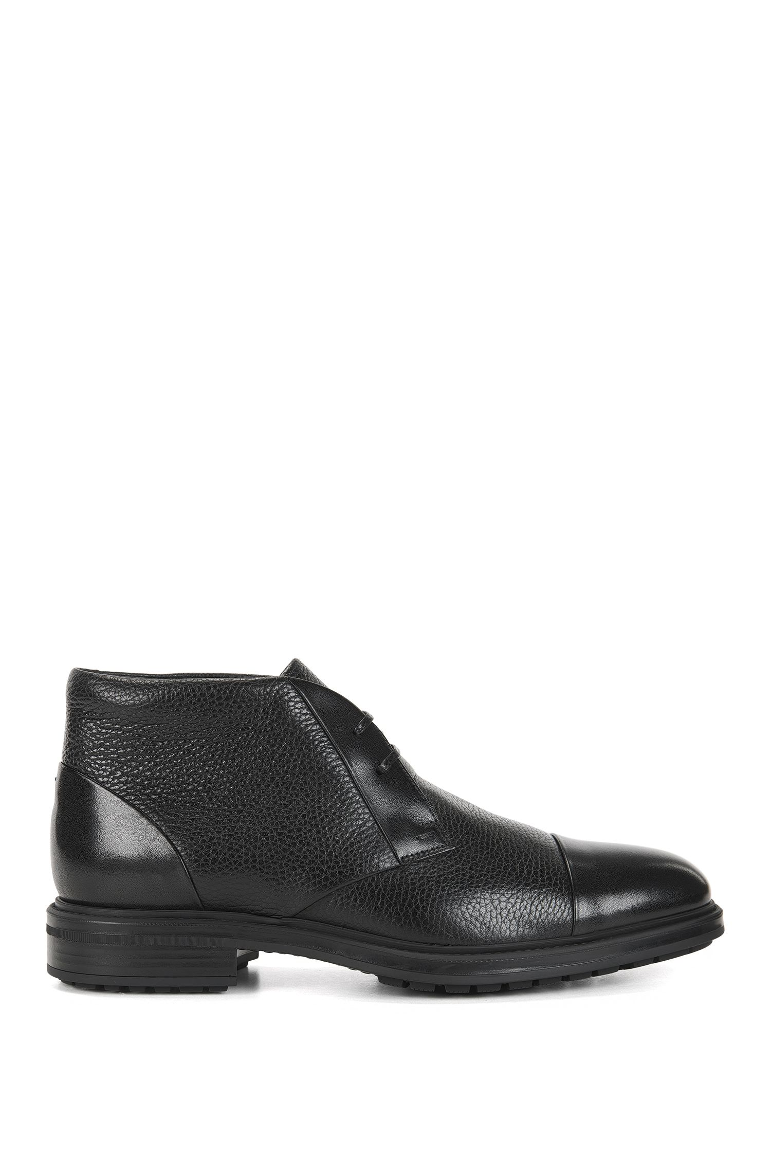 Grained Leather Chukka Boot | Warsaw Desb Plgrct, Black