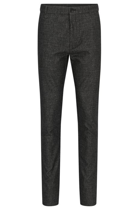 Extra-slim-fit cotton-blend trousers with zipped legs HUGO BOSS R2jbEhnqR