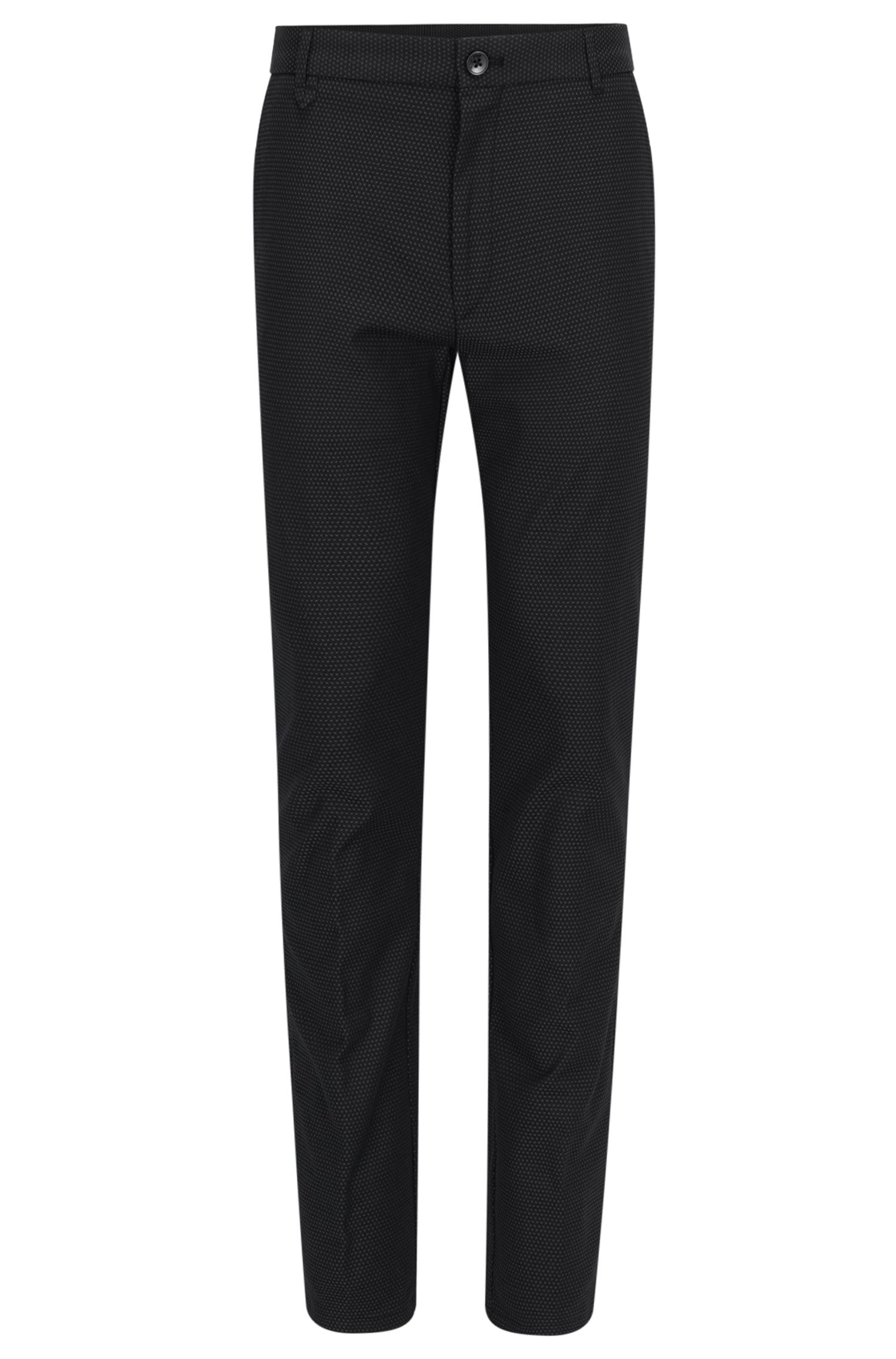 Patterned Stretch Cotton Pants, Extra Slim Fit | Heldor