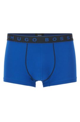 Stretch Cotton Modal Logo Trunks | Trunk 2Tone, Blue