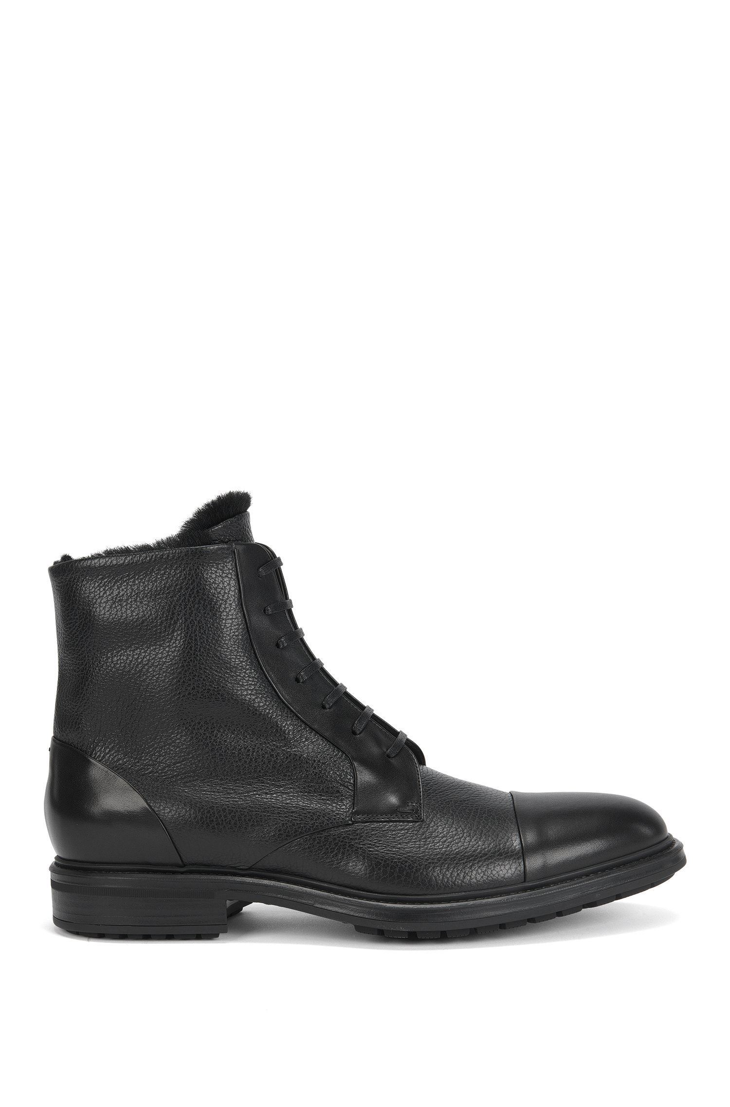 Leather Boot | Warsaw Halb Plgrct, Black