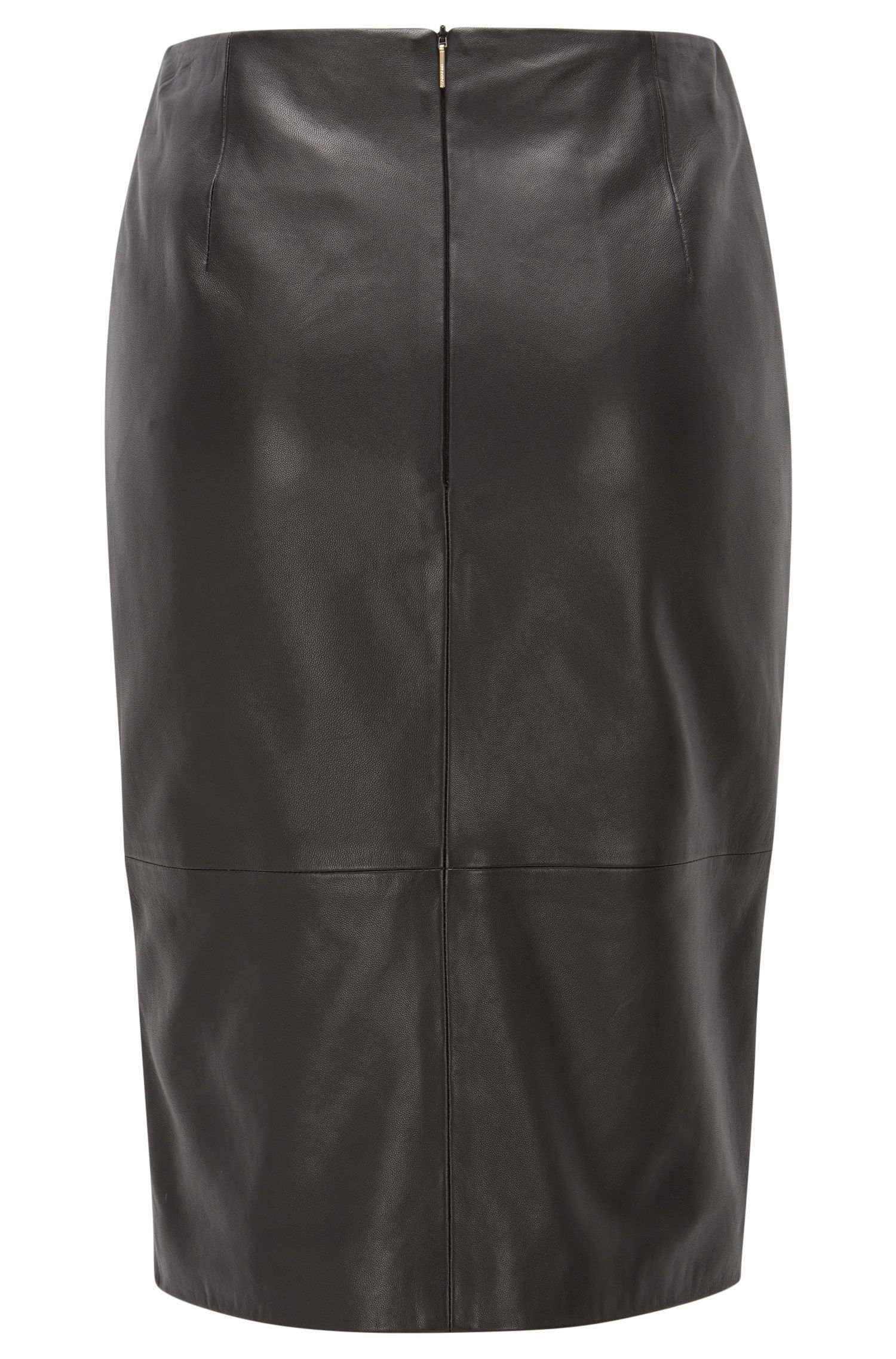 Leather Pencil Skirt | Sepama, Black