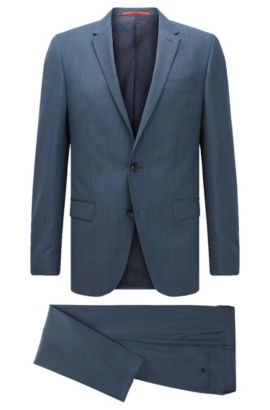 'C-Harvey/C-Getlin' | Stretch Virgin Wool Blend Suit, Dark Blue