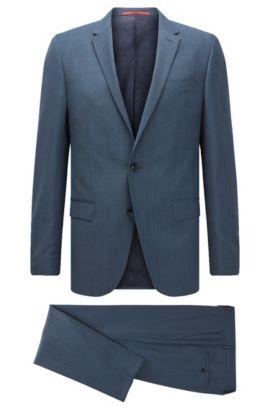 Stretch Virgin Wool Blend Suit, Slim Fit | C-Harvey/C-Getlin, Dark Blue