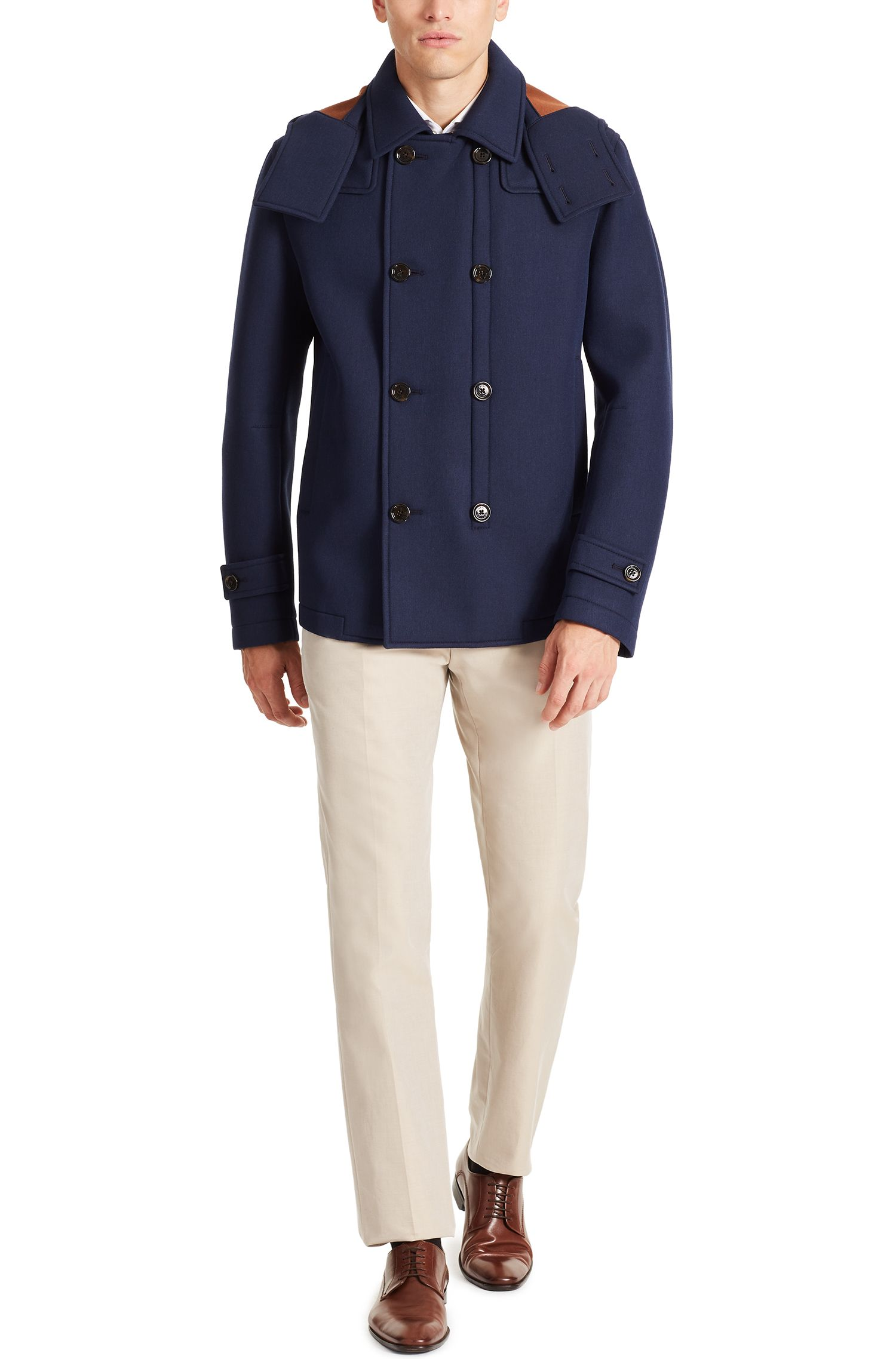 Stretch Virgin Wool Double-Breasted Jacket | Chatham