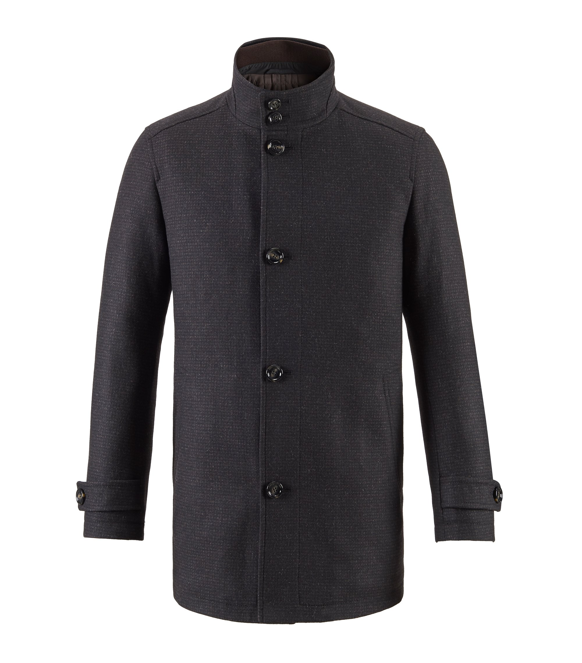 Wool Blend Coat | Camlow, Dark Brown