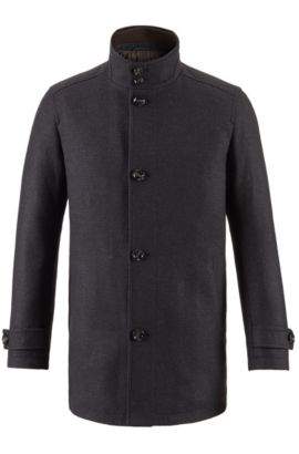 Wool Blend Coat | Camlow, Dark Brown