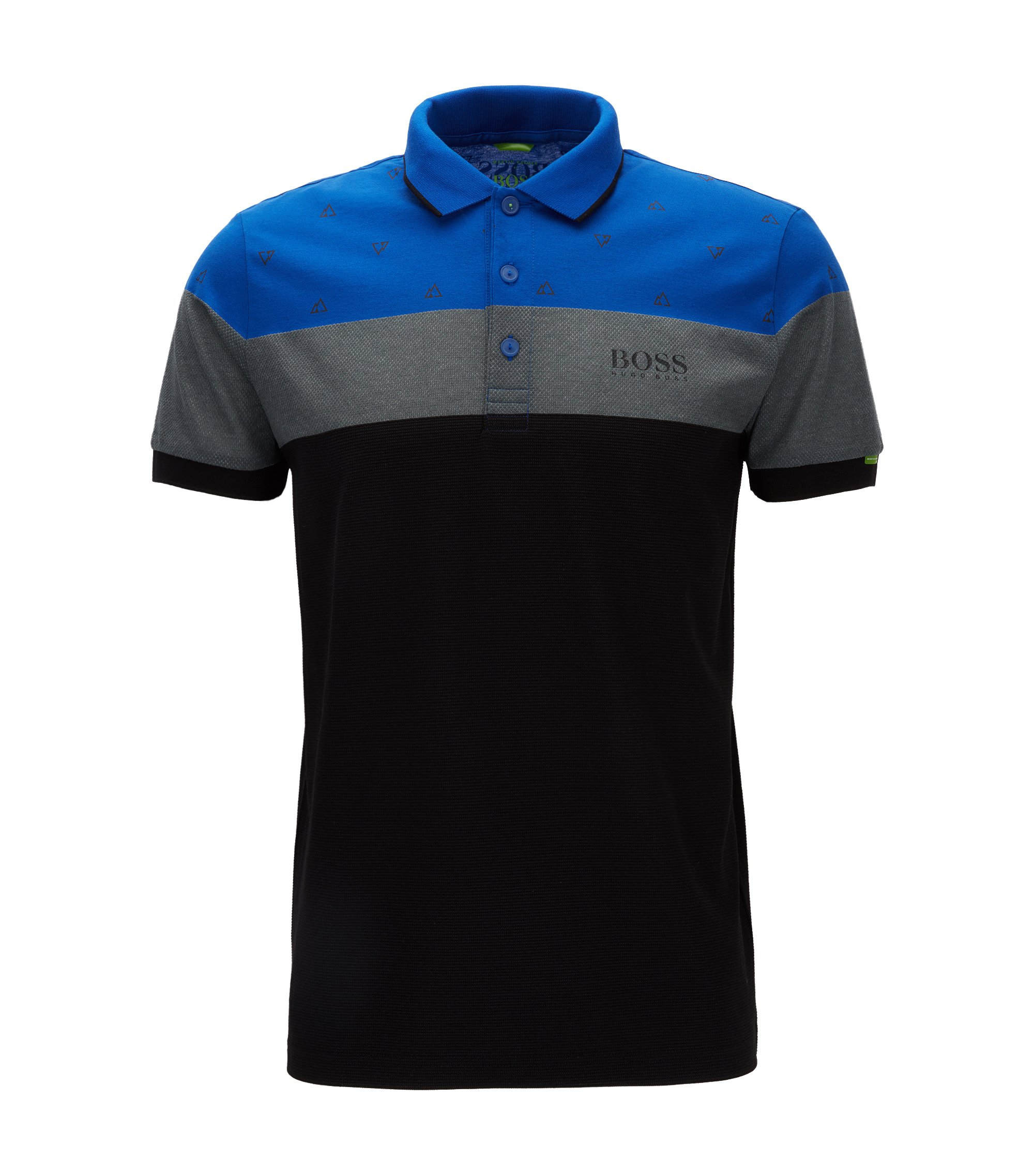 Moisture Manager Stretch Polo Shirt, Modern Fit | Paddy MK, Blue