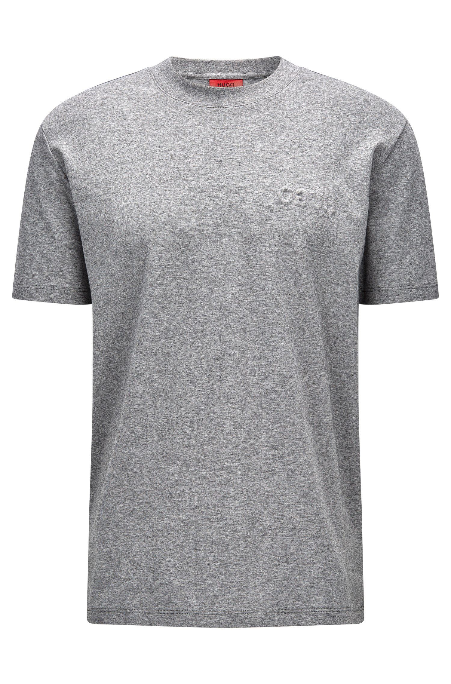 Embossed Cotton T-Shirt | Derrif