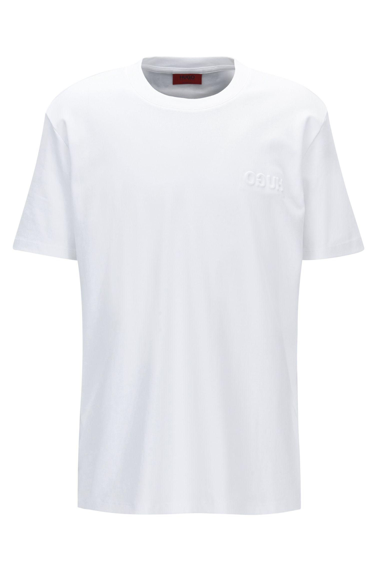 Embossed Cotton T-Shirt | Derrif