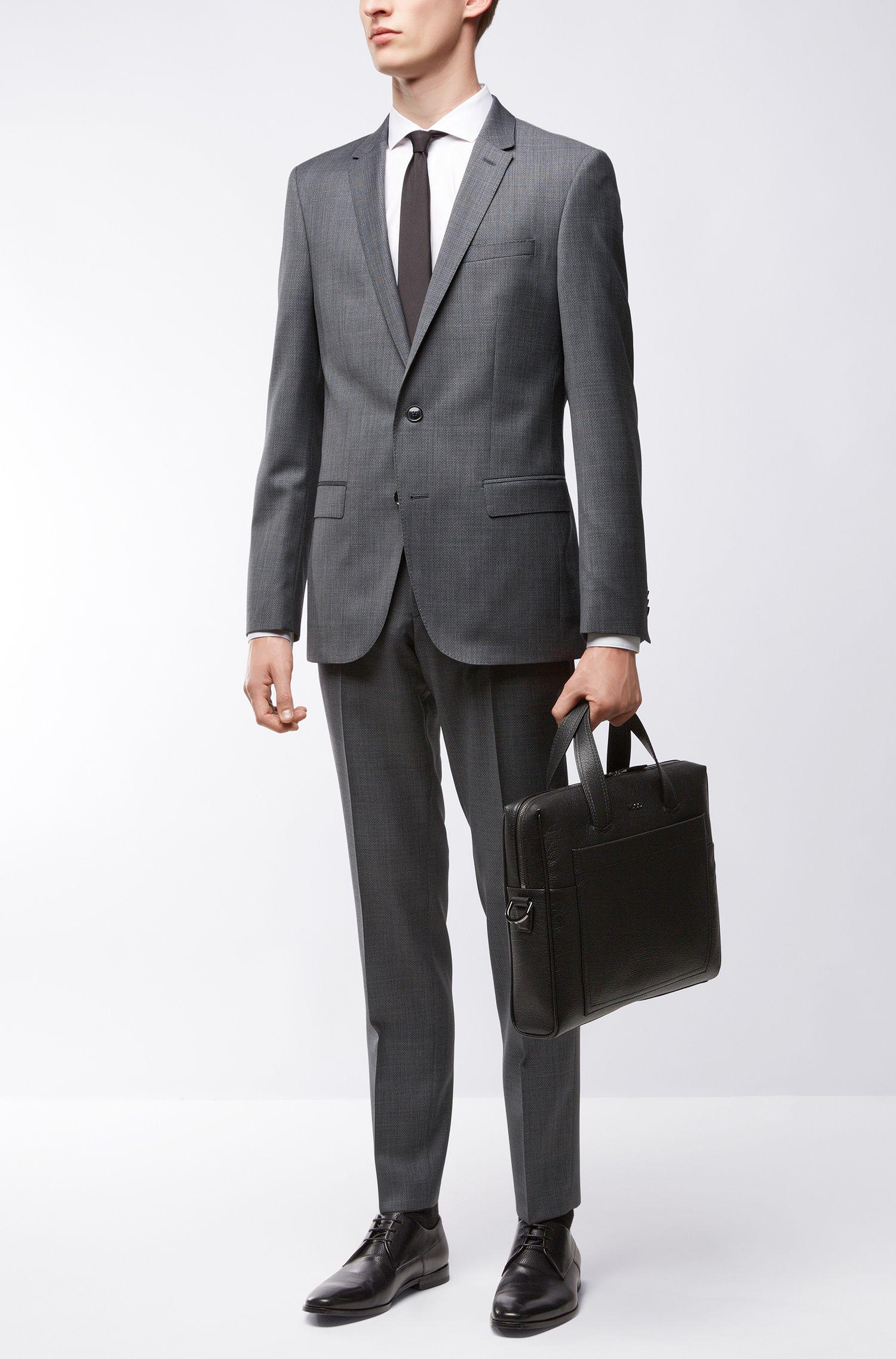 Virgin Wool Blend Suit, Slim Fit | C-Harvey/C-Getlin