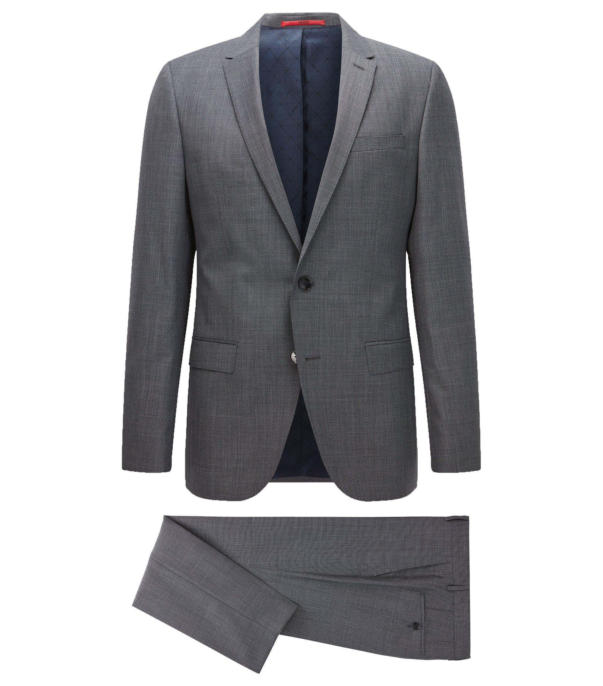 Virgin Wool Blend Suit, Slim Fit | C-Harvey/C-Getlin, Dark Blue