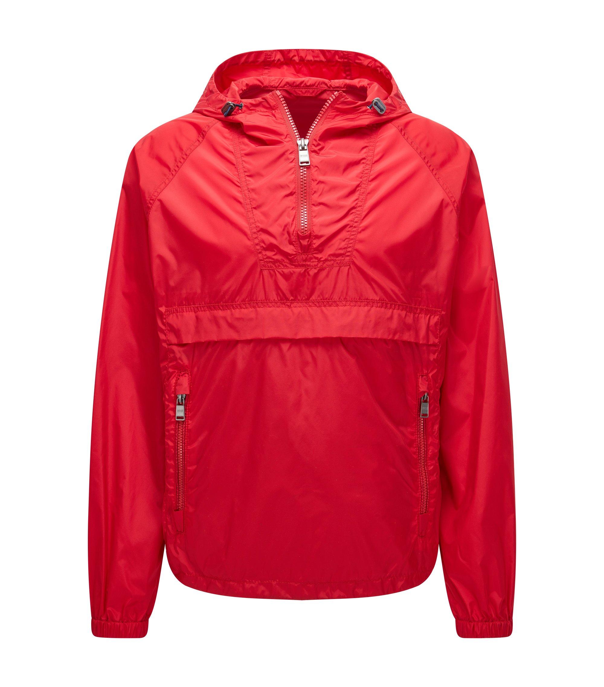 'Carbourn'   Nylon Rain Jacket, Red
