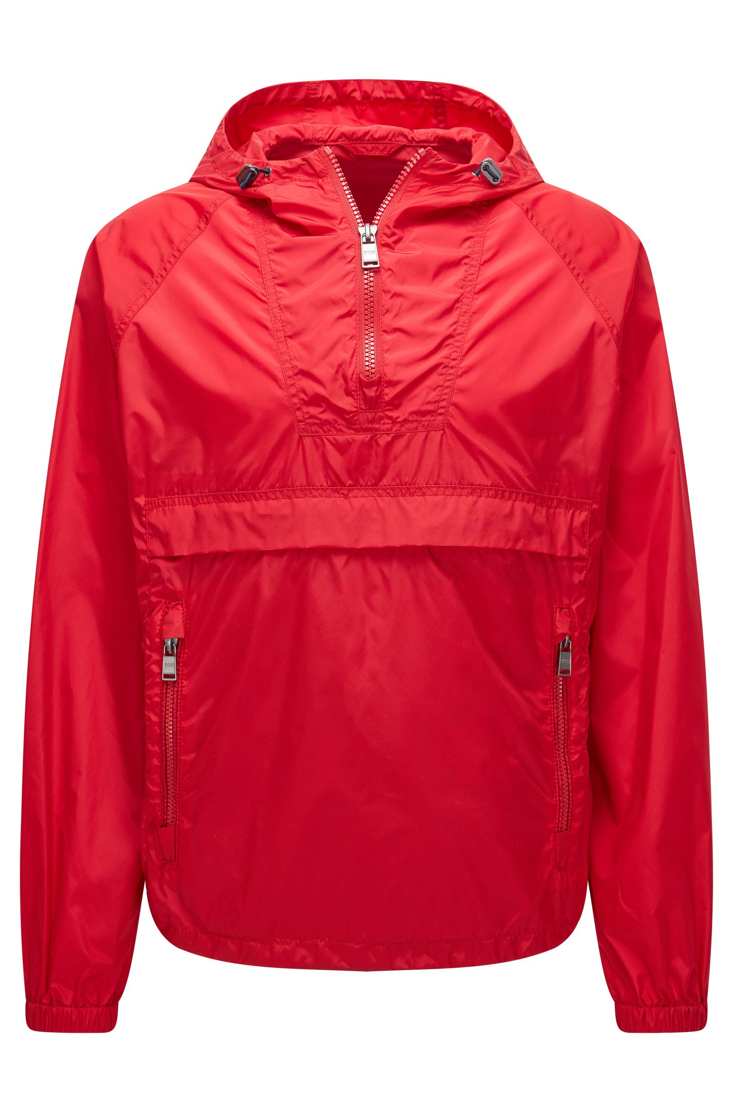'Carbourn' | Nylon Rain Jacket, Red